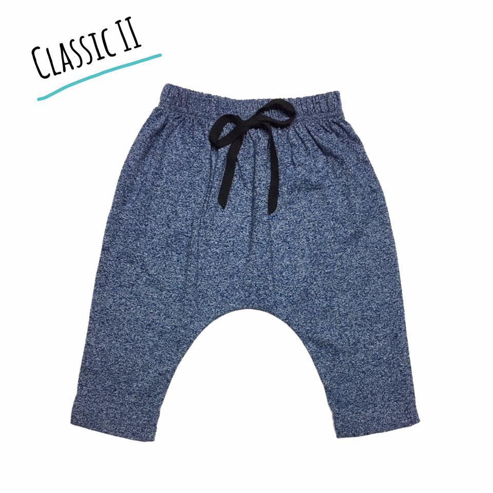 กางเกงก้นป่องรุ่นคลาสสิค สีน้ำเงิน