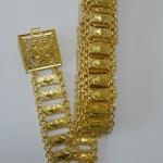 acc_114 เข็มขัดโลหะสีทอง ยาว 45 นิ้ว ราคา 280 บาท