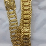 acc_116 เข็มขัดโลหะสีทอง ยาว 45 นิ้ว ราคา 280 บาท