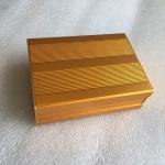 กล่องอลูมิเนียมสีทอง ขนาด 35x76x100 มม.