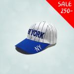 หมวกทรงเบสบอล สำหรับเด็ก ปัก New York สีน้ำเงิน ขนาดศีรษะ 47-54 ซม สามารถปรับขนาดได้ เหมาะสำหรับน้อง ๆ วัย 2-8 ขวบ มี 3 สีให้เลือก