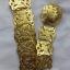 acc_118 เข็มขัดโลหะสีทองลายโบราณ ยาว 45 นิ้ว ราคา 230 บาท