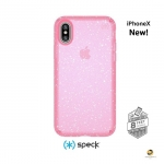 เคสกันกระแทก Speck iPhoneX Presidio Clear Glitter Bella Pink - สีชมพู